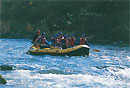 Rafting on the Shiribetsu River